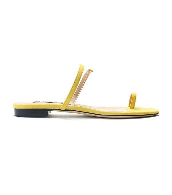 Summer's It Shoe Trend: Sergio Rossi Suede Karen Sandal