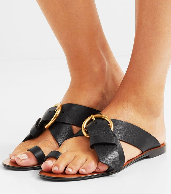 Summer's It Shoe Trend: Chloé Nils Textured-Leather Sandals