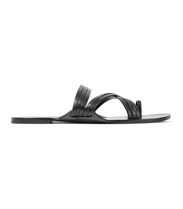 Summer's It Shoe Trend: The Row Cannes Leather Sandals