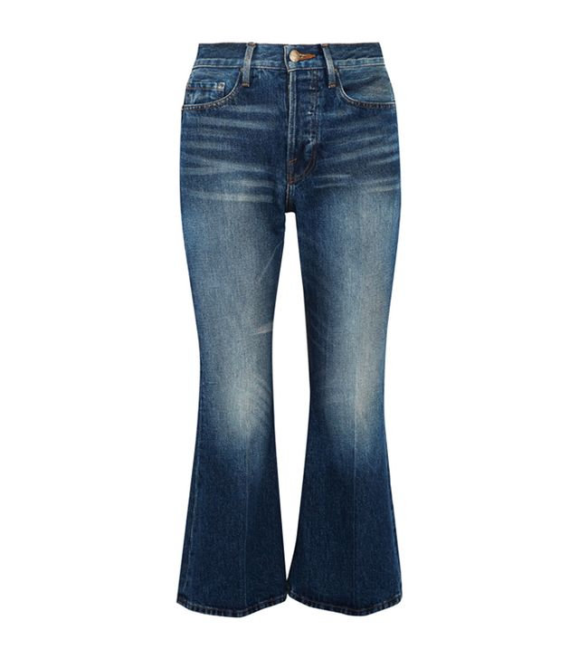 Can you clean jeans in the freezer: Frame Rigid Re-Release Le Cropped High-Rise Slim-Leg Jeans