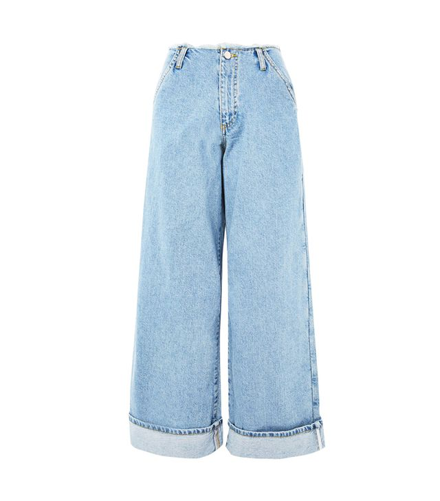 Can you clean jeans in the freezer: Topshop Super Wide Leg Frayed Jeans by Boutique