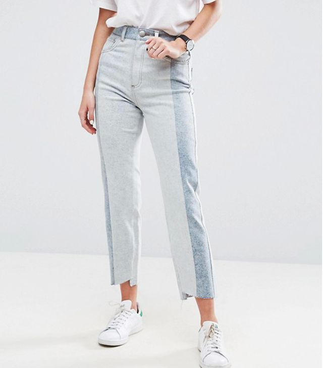 Can you clean jeans in the freezer: ASOS Deconstructed Straight Leg Jeans In Tonal 80s Bleach Light Acid Wash