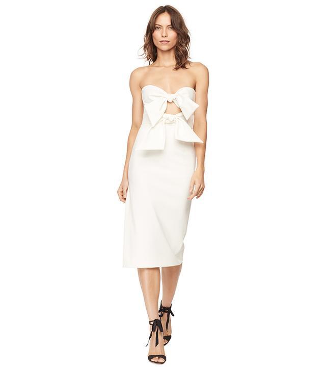 best white strapless dresses