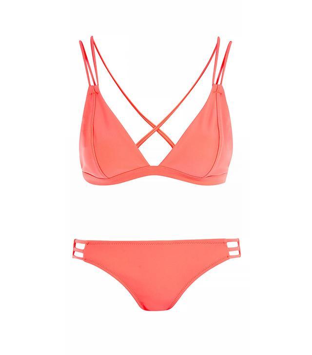 Strappy Triangle Bikini Top