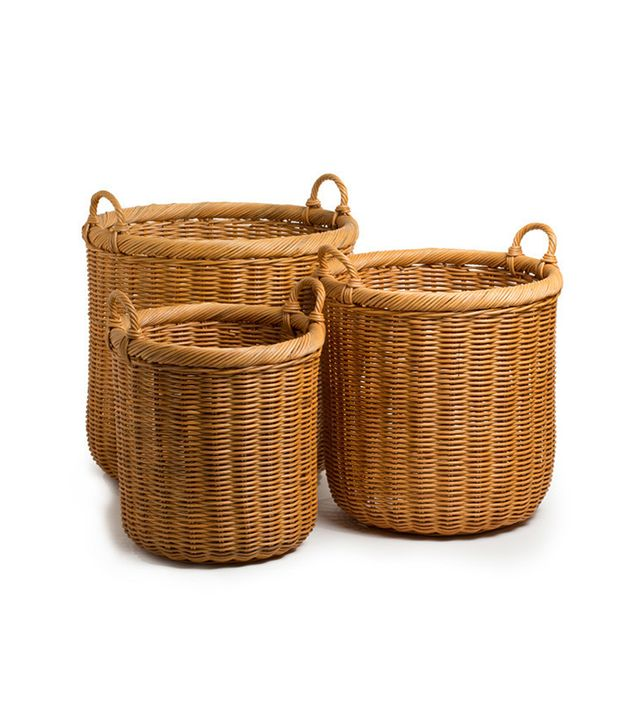 The Basket Lady Round Wickers Storage Basket