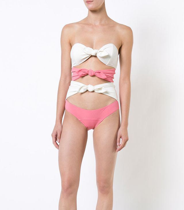 knotted swimsuit