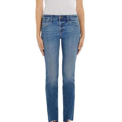 Amelia Mid-Rise Straight Jeans