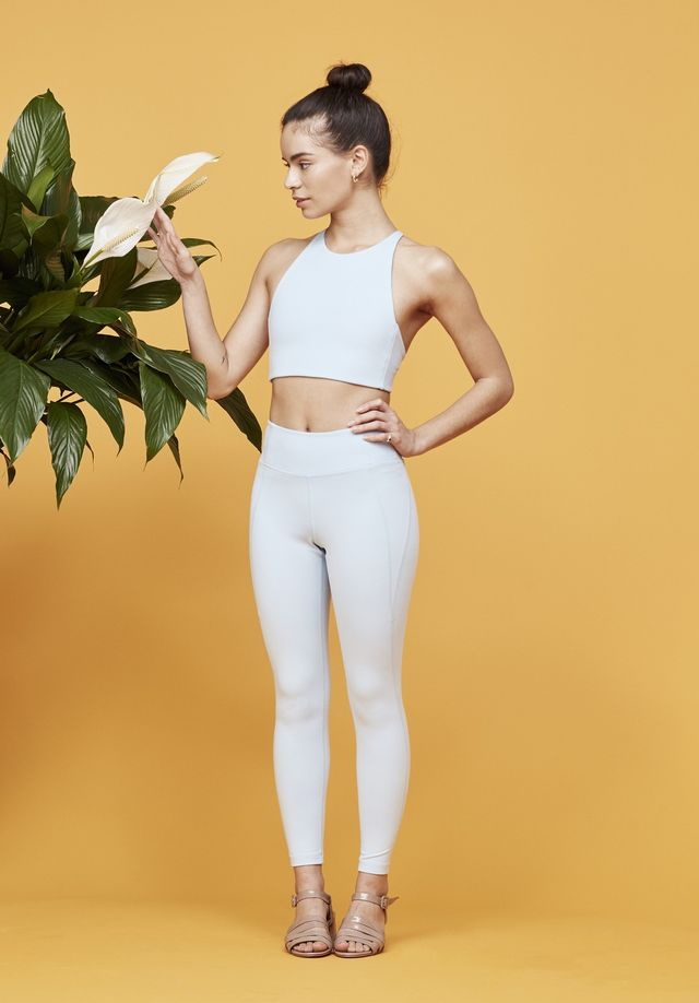 Girlfriend Collective Powder Blue Girlfriend Mid-Rise 3/4 Leggings