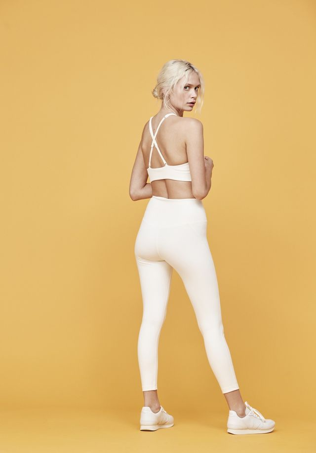 Girlfriend Collective Ivory Girlfriend High-Rise 3/4 Leggings