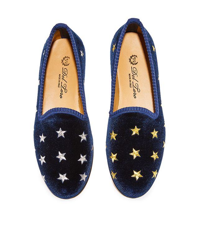 Silver & Gold Stars Smoking Slippers
