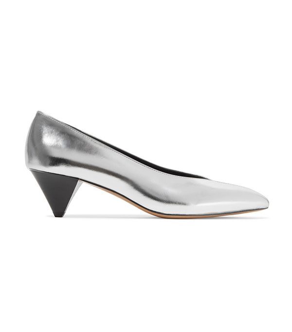 Poomi Metallic Leather Pumps