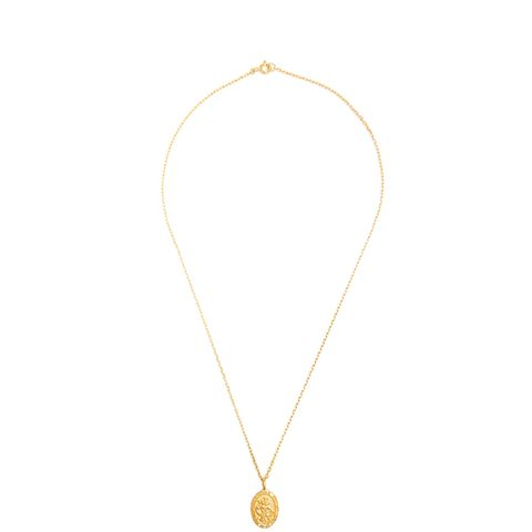 Zircon and Gold-Plated Necklace