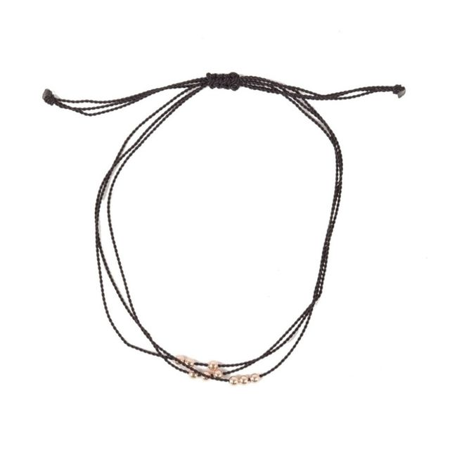 Catbird Friendship Bracelet With Rose-Gold Beads