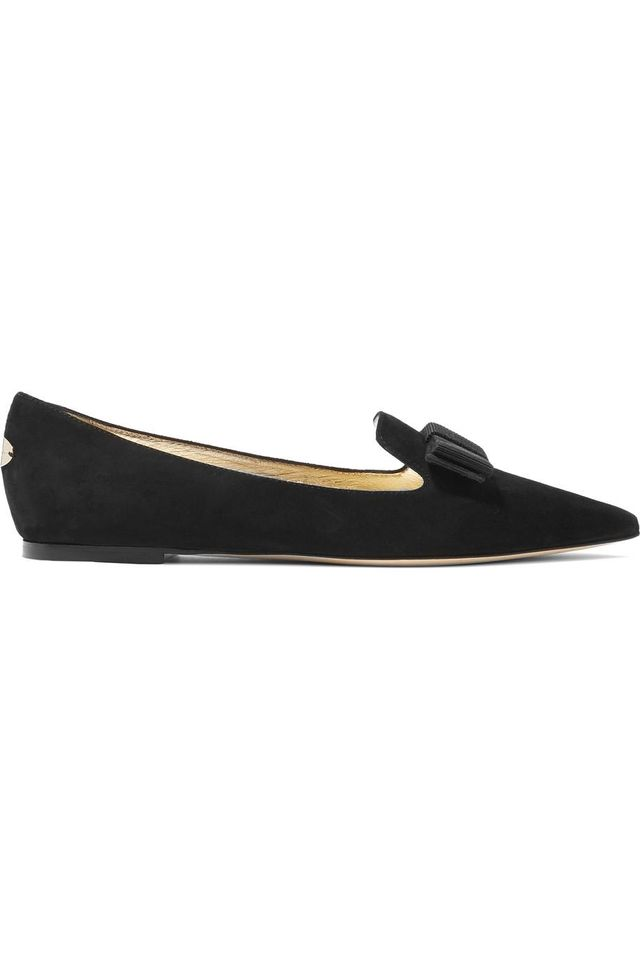 Gala Suede Point-toe Flats