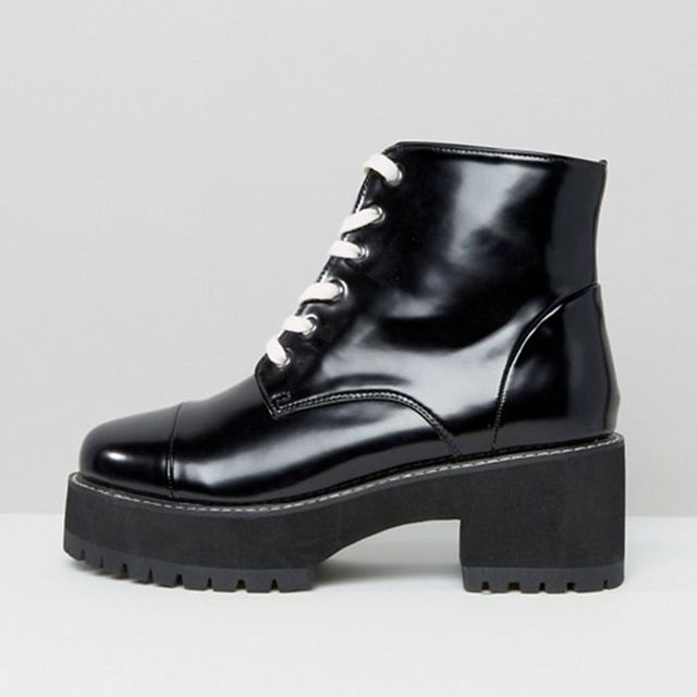 ASOS Rue Chunky Lace-Up Boots