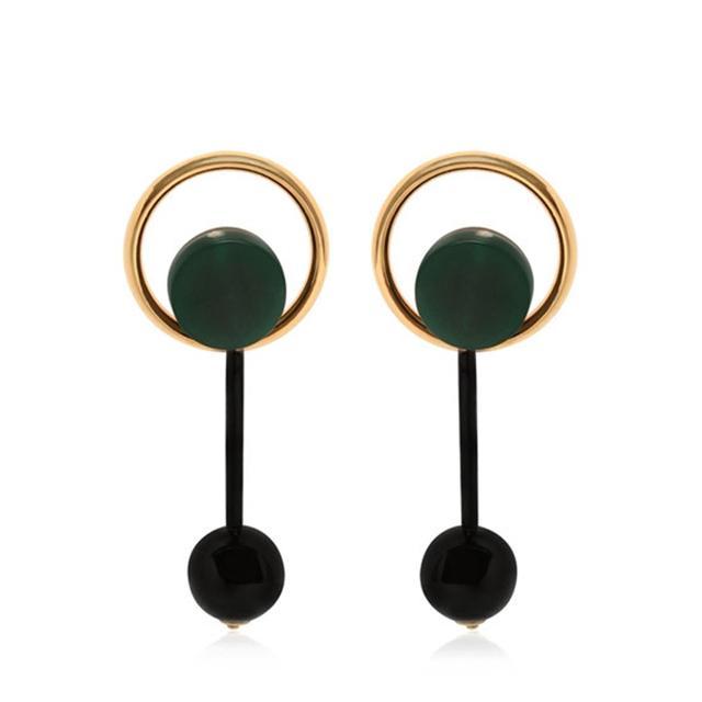 Marni Round Drop Earrings