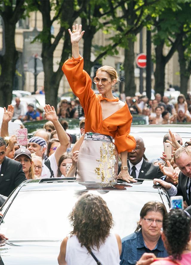 Céline Dion at Paris Haute Couture Fashion Week.