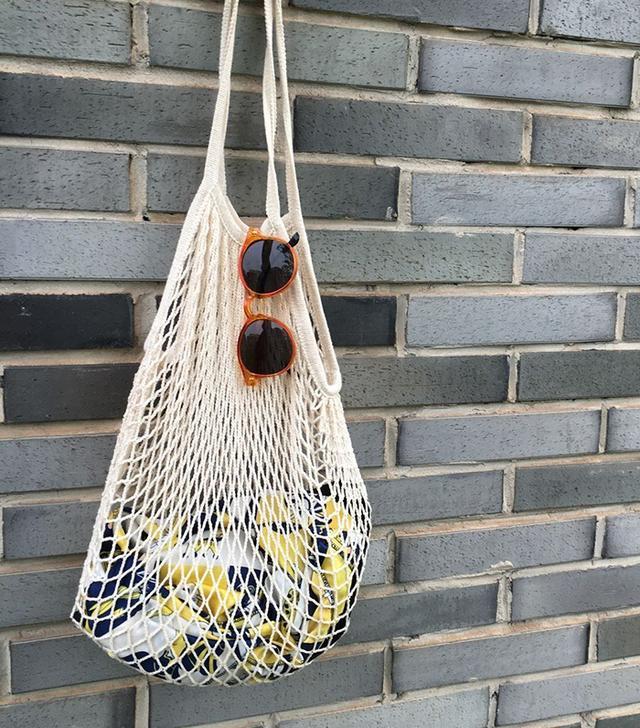 YingKu Cotton Net Shopping Tote Ecology Market String Bag
