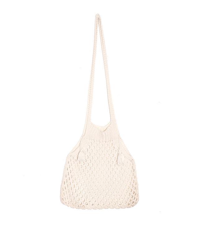 Pixie Market Knit Fisherman Net Shoulder Bag