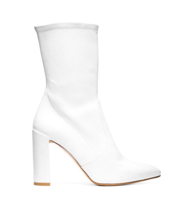 Stuart Weitzman white Clinger boot