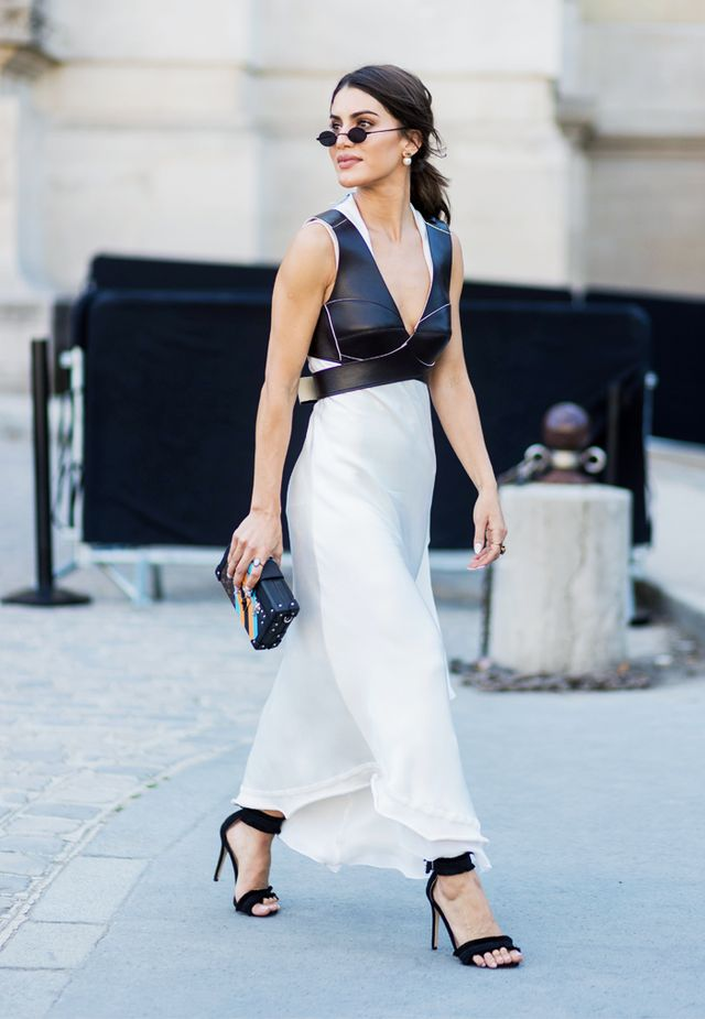 Paris Fashion Week Haute Couture street style: slip dress