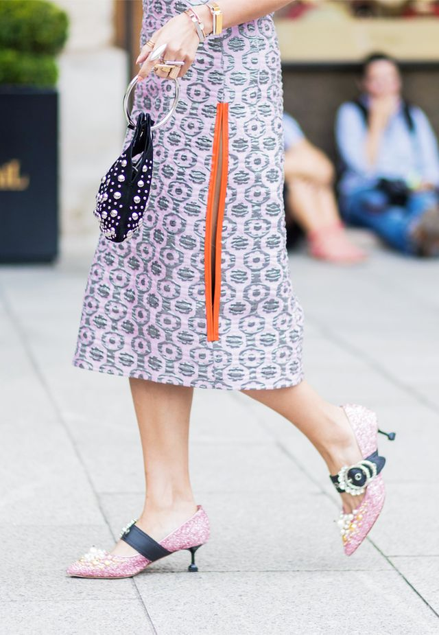 Paris Fashion Week Haute Couture street style: sparkly shoes