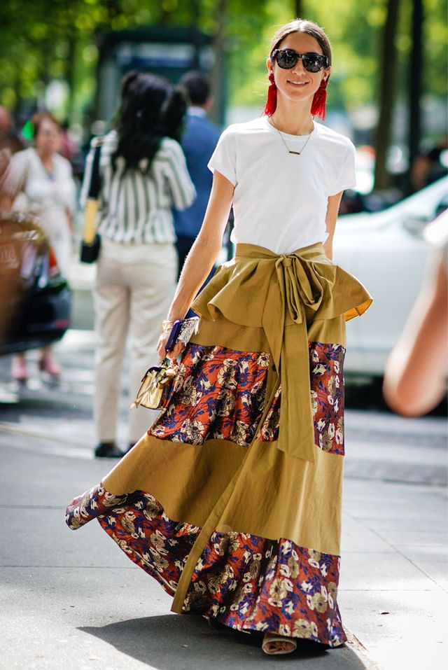 Paris Fashion Week Haute Couture street style: t shirt