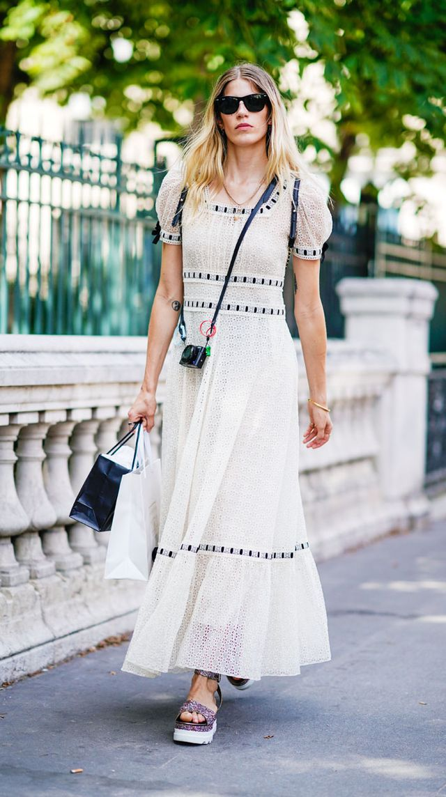 Paris Fashion Week Haute Couture street style: flatforms