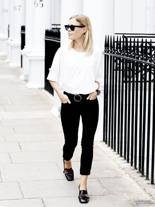 Skinny Jean Outfit #1: Loafers + Tee