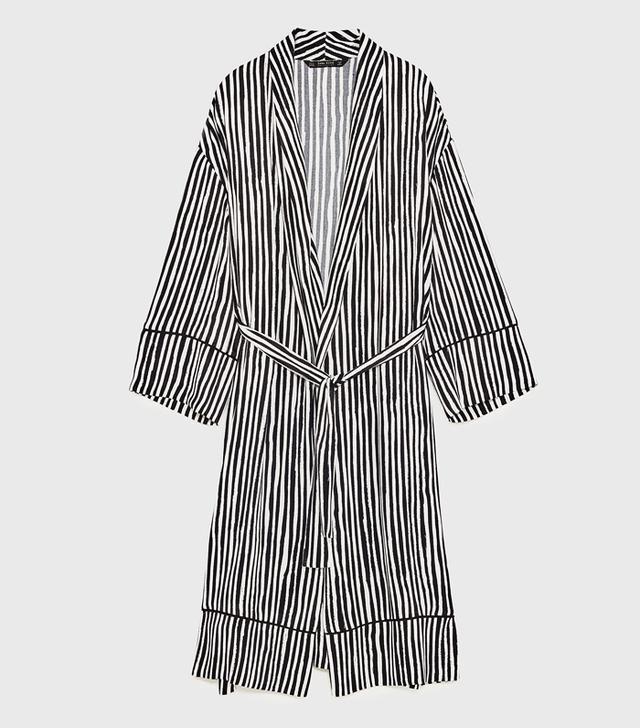 Zara Kimono: Striped Kimono