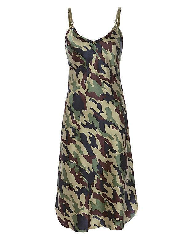 Camoflauge Slip Dress