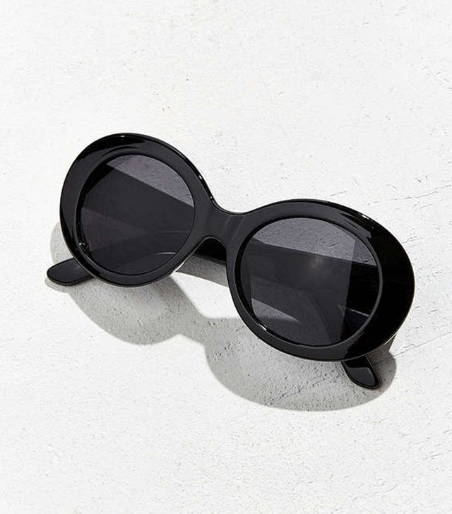 Urban Outfitters Plastic Oval Sunglasses in Black