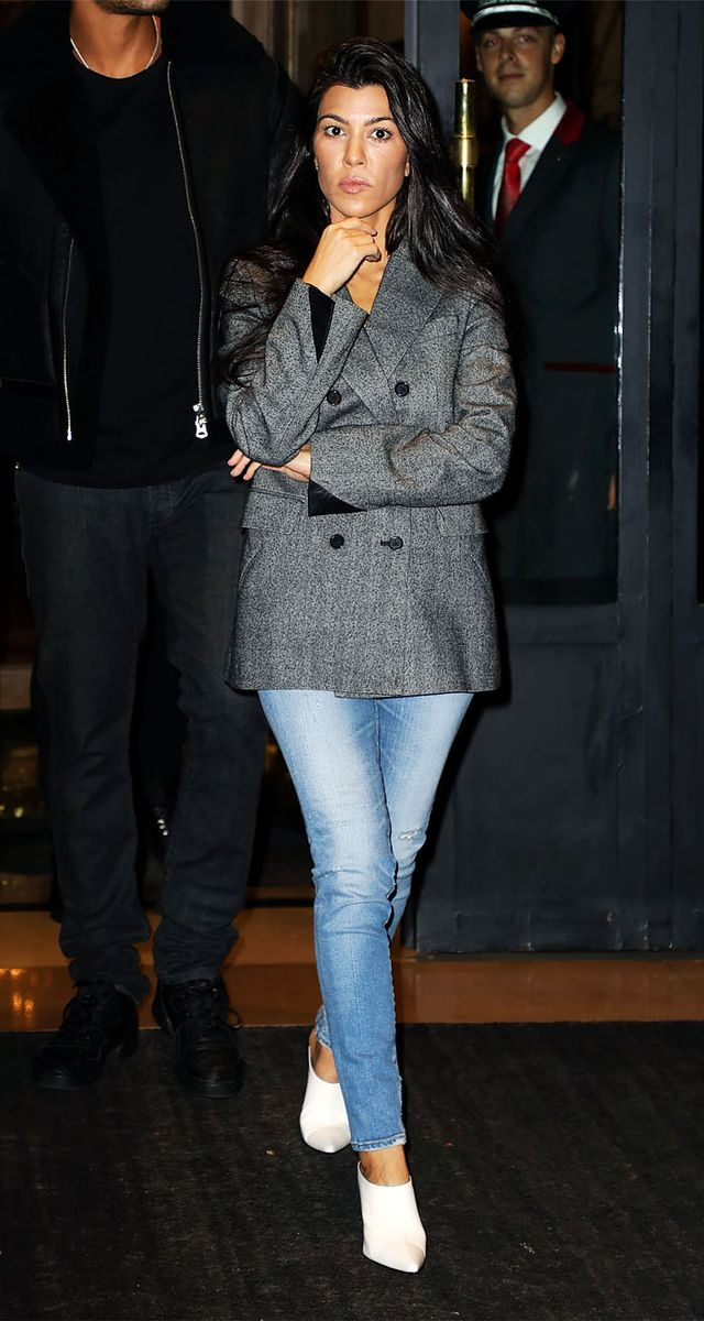 Kourtney Kardashian style: Orange Tracksuit Trousers