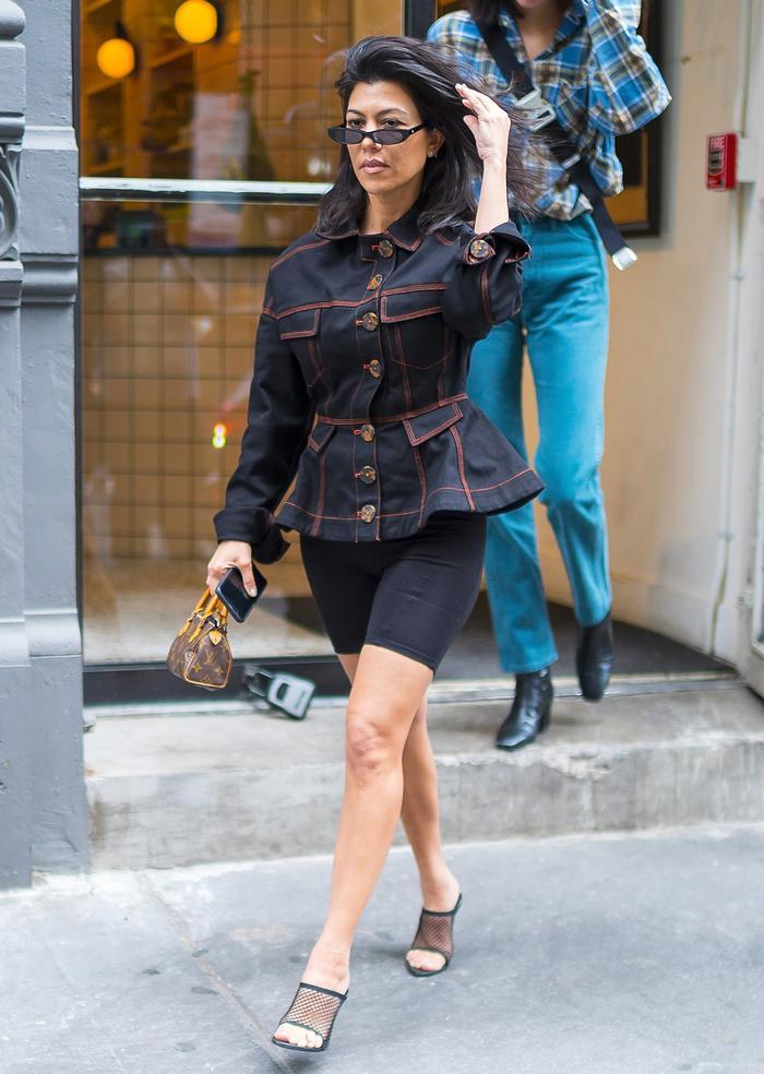 Kourtney Kardashian style: cycling shorts