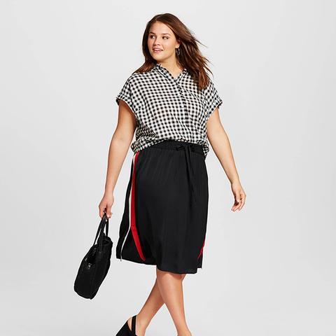 Silky Track Skirt
