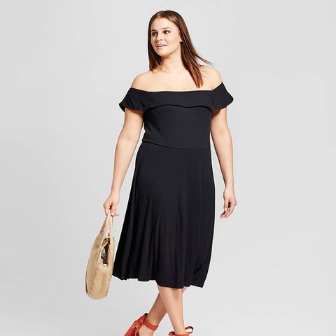 Rib Bardot Dress