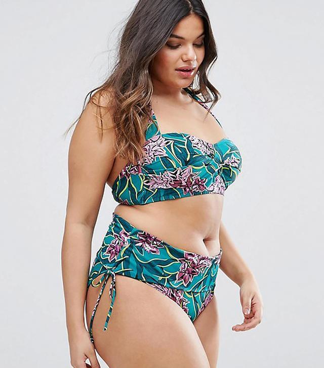 Asos Junarose Floral Halter Bikini