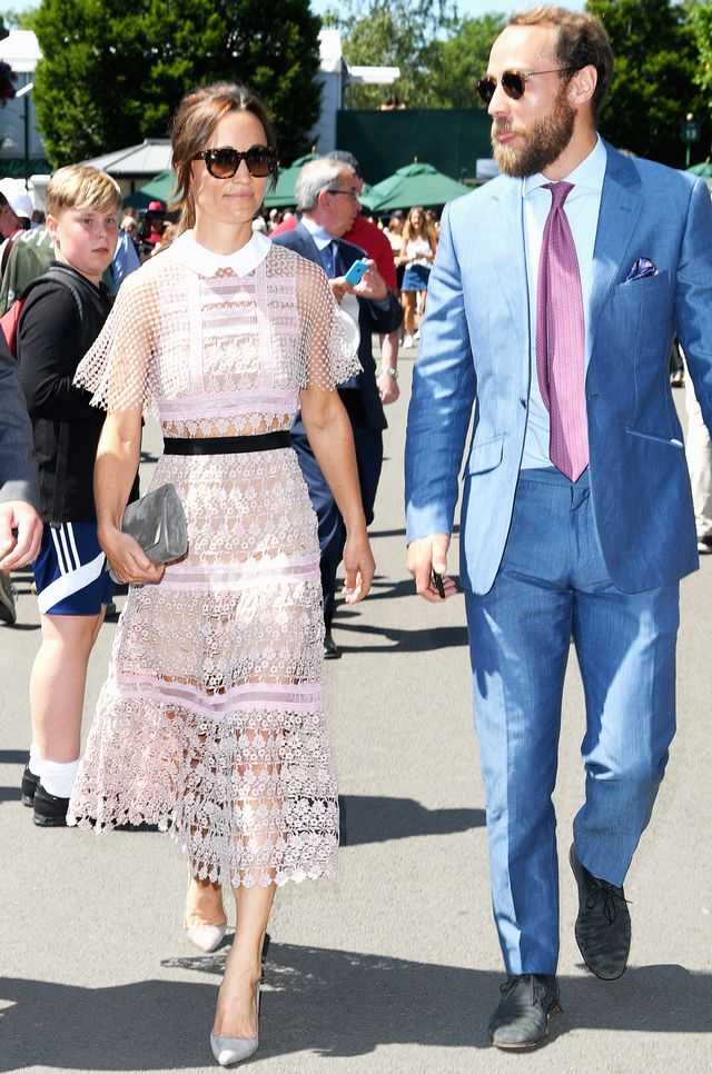 Pippa Middleton Wimbledon sheer dress