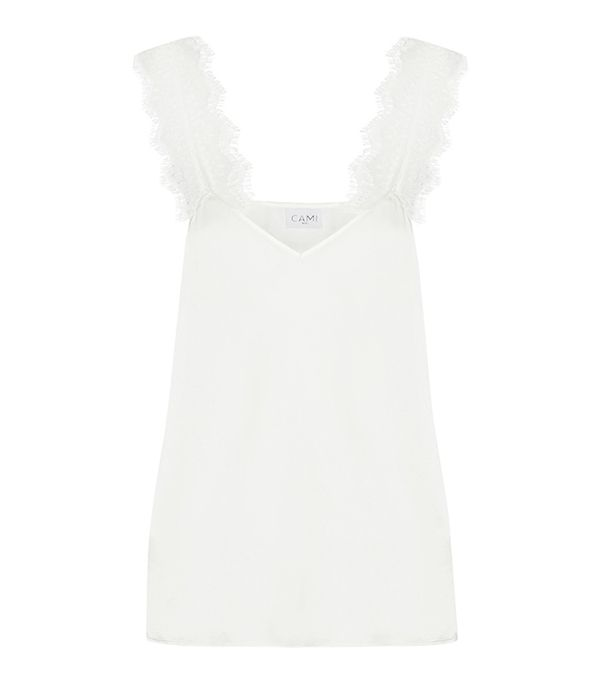Chelsea Lace-trimmed Silk-charmeuse Camisole