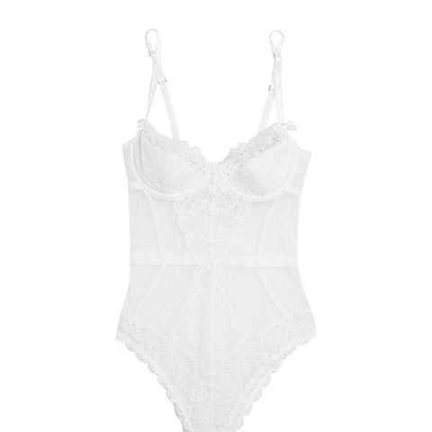 Reia Lace And Tulle Bodysuit