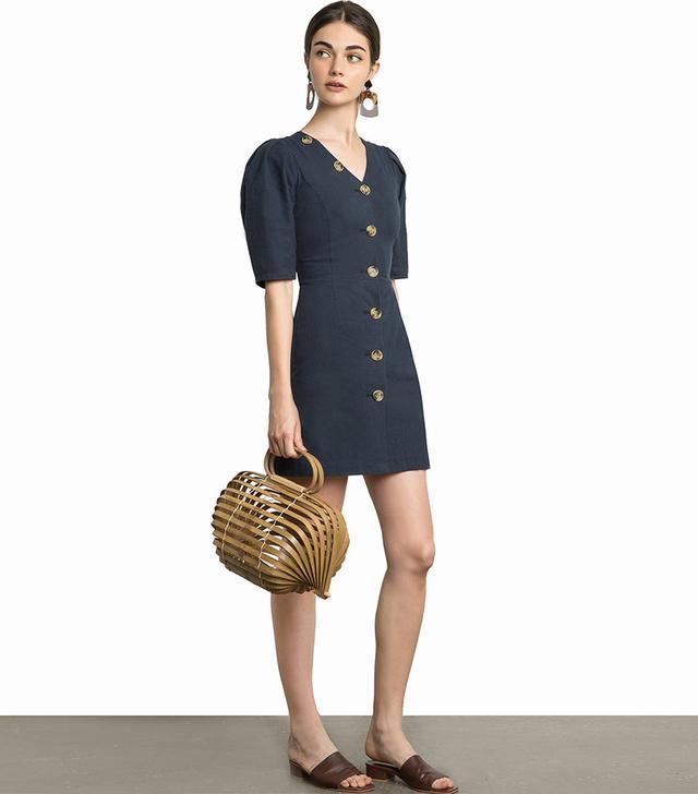 Pixie Market Luna Button V Minidress