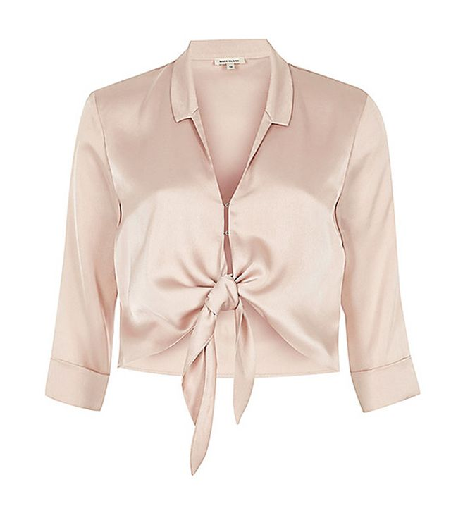 River Island Pink Satin Shirt