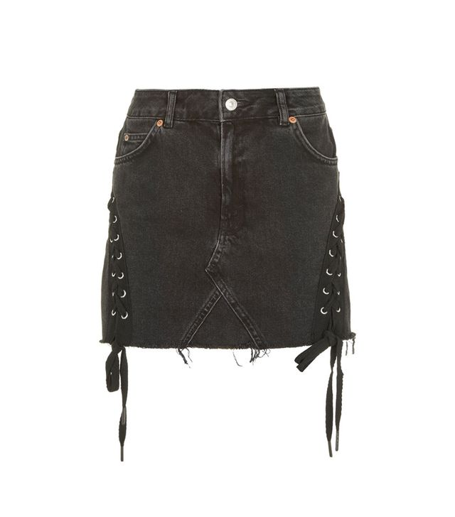 Topshop Moto Lace High-Waisted Skirt