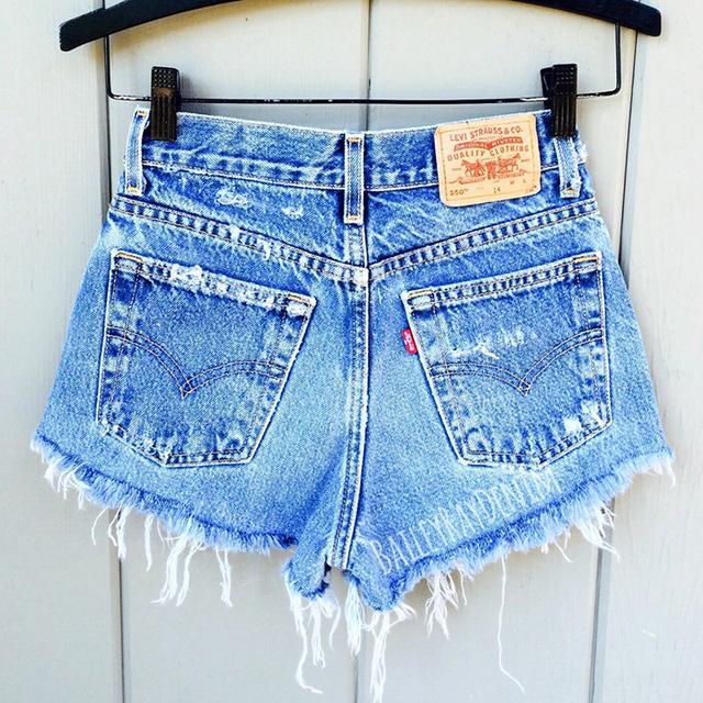 Vintage Levi's High Waisted Denim Shorts