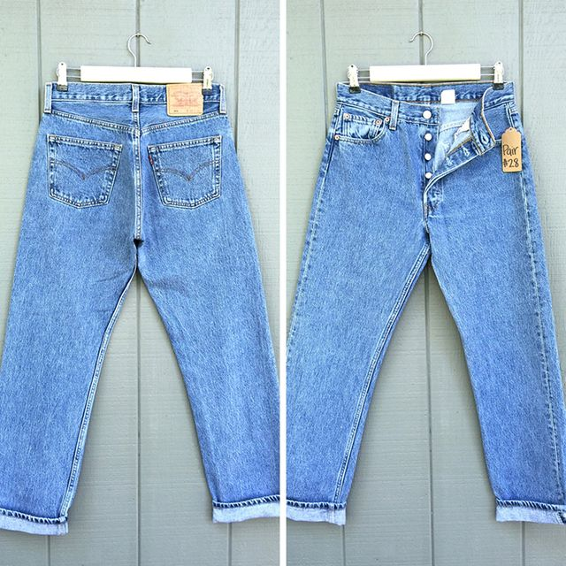Vintage Levi's High Waisted Jeans, Size 2