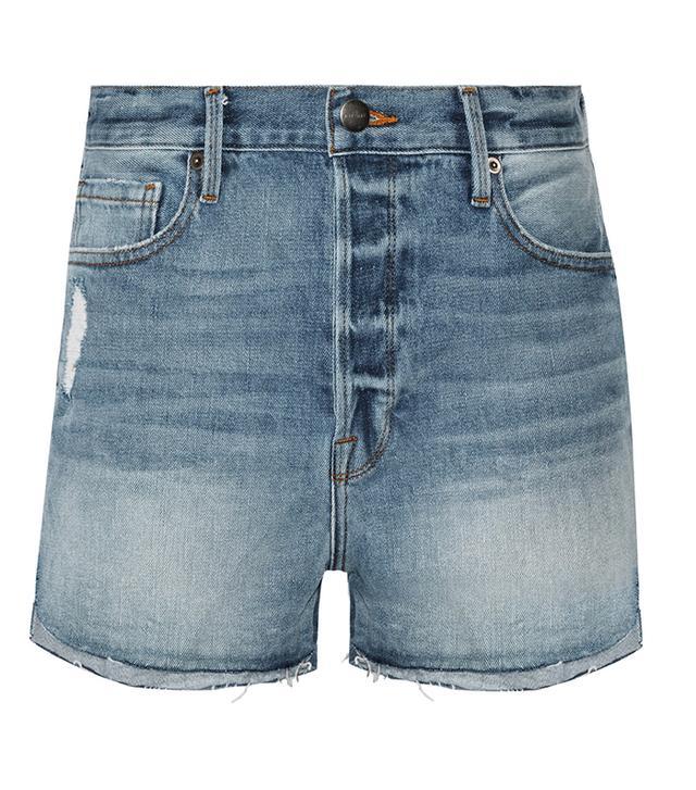 Le Original Tulip Distressed Denim Shorts