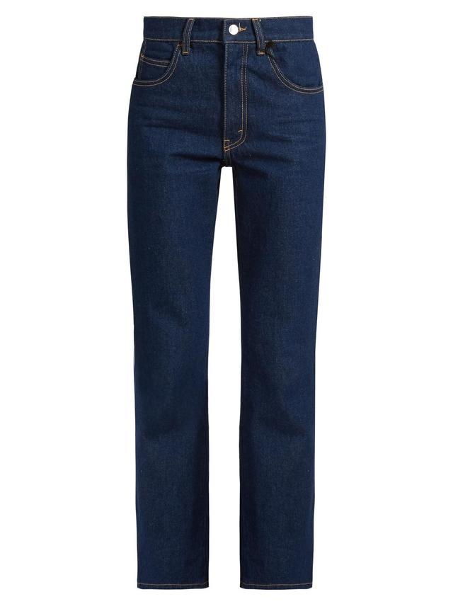 Rosa high-rise kick-flare jeans