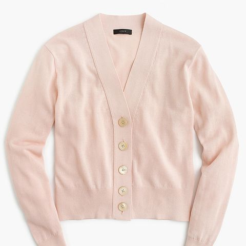 Cropped Lightweight Cardigan Sweater