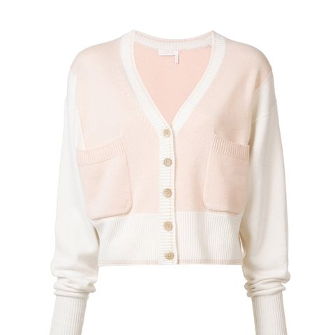 Cashmere Two Tone Cardigan