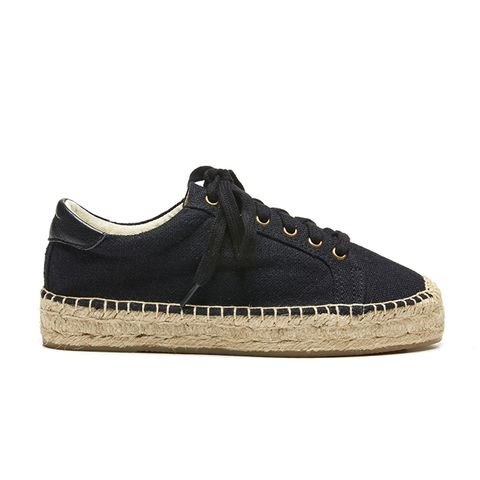 Canvas Platform Tennis Sneakers
